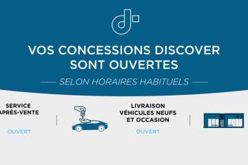 NOUVEAUX HORAIRES D'OUVERTURES.